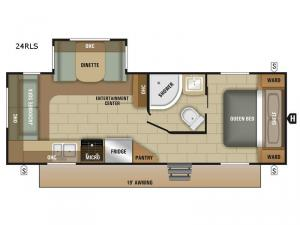Launch Outfitter 24RLS Floorplan Image
