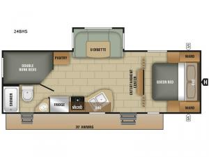 Launch Outfitter 24BHS Floorplan Image