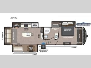 Montana High Country 294RL Floorplan Image