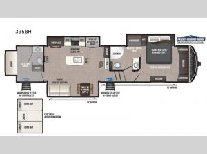 Montana High Country 335BH Floorplan Image