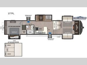 Montana High Country 377FL Floorplan Image