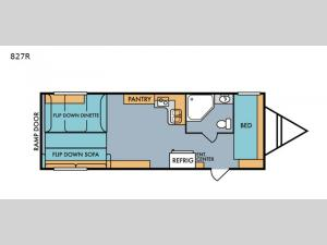 Retro 827R Floorplan Image