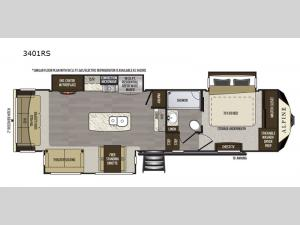 Alpine 3401RS Floorplan Image