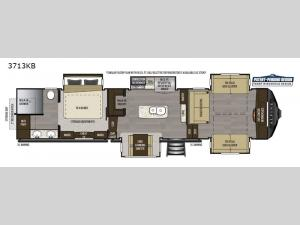 Alpine 3713KB Floorplan Image