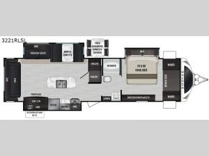 Kodiak Ultimate 3221RLSL Floorplan Image