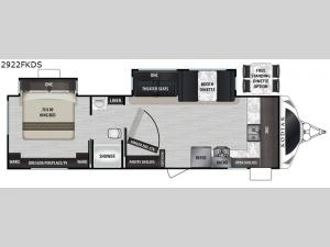 Kodiak Ultimate 2922FKDS Floorplan Image