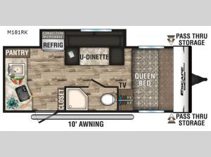 Escape Mini M181RK Floorplan Image