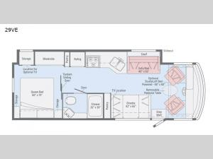 Vista 29VE Floorplan Image