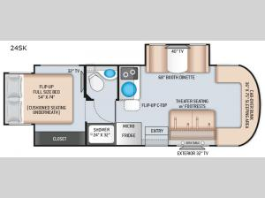 Citation Sprinter 24SK Floorplan Image