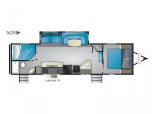 Wilderness 3125BH Floorplan Image