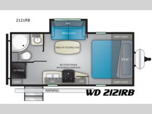 Wilderness 2121RB Floorplan Image