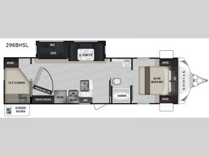 Kodiak Ultra-Lite 296BHSL Floorplan Image