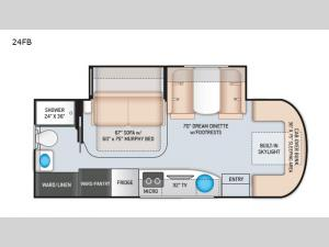 Tiburon Sprinter 24FB Floorplan Image