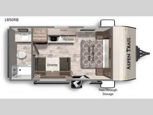 Aspen Trail LE 1850RB Floorplan Image
