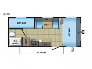Jay Flight SLX 174BH Floorplan Image