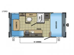 Jay Flight SLX 175RD Floorplan Image