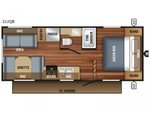 Jay Flight SLX 212QB Floorplan Image