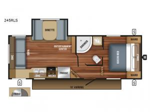 Jay Flight SLX 245RLS Floorplan Image