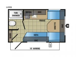 Jay Flight SLX 145RB Floorplan Image