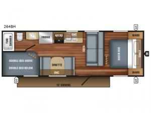 Jay Flight SLX 264BH Floorplan Image
