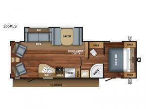 Jay Flight SLX 265RLS Floorplan Image