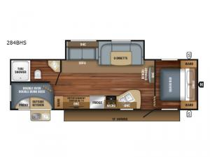 Jay Flight SLX 284BHS Floorplan Image