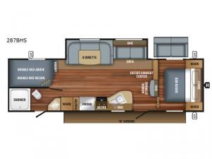 Jay Flight SLX 287BHS Floorplan Image