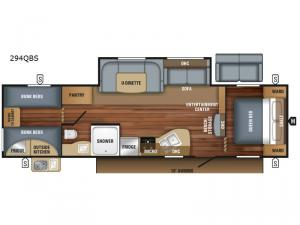 Jay Flight SLX 294QBS Floorplan Image