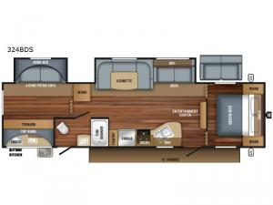 Jay Flight SLX 324BDS Floorplan Image