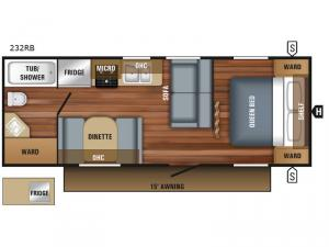 Jay Flight SLX 232RB Floorplan Image