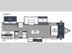 Surveyor 321BHTS Floorplan Image