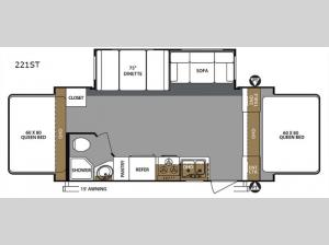 Surveyor 221ST Floorplan Image