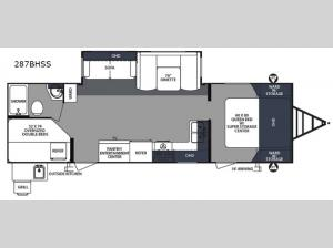 Surveyor 287BHSS Floorplan Image