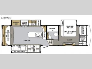 Cardinal Luxury 3250RLX Floorplan Image