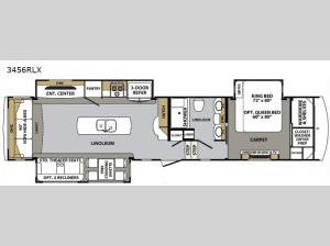 Cardinal Luxury 3456RLX Floorplan Image