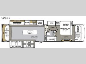 Cardinal Luxury 3850RLX Floorplan Image