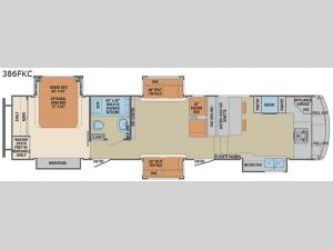 Columbus Compass 386FKC Floorplan Image
