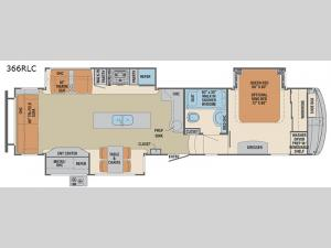 Columbus Compass 366RLC Floorplan Image
