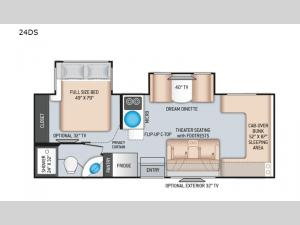 Chateau Sprinter 24DS Floorplan Image