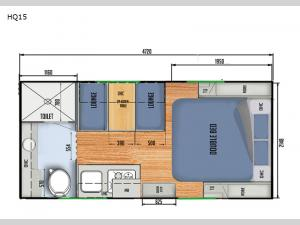 Black Series Camper HQ15 Floorplan Image