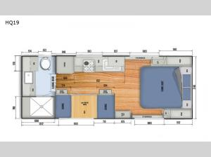 Black Series Camper HQ19 Floorplan Image