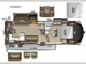 Mesa Ridge Limited MF280RKS Floorplan Image