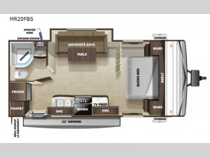 Mesa Ridge Conventional MR20FBS Floorplan Image