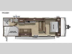 Mesa Ridge Conventional MR26BH Floorplan Image