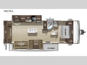 Mesa Ridge Conventional MR27RLI Floorplan Image