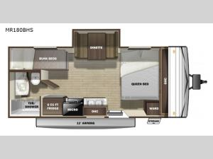 Mesa Ridge Conventional MR180BHS Floorplan Image