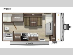 Mesa Ridge Conventional MR19BH Floorplan Image