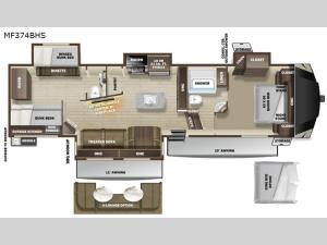 Mesa Ridge MF374BHS Floorplan Image
