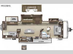 Mesa Ridge MR310BHS Floorplan Image
