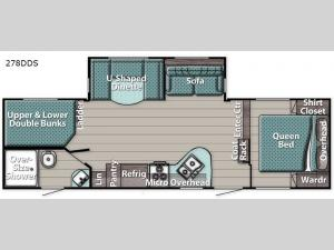 Conquest 278DDS Floorplan Image